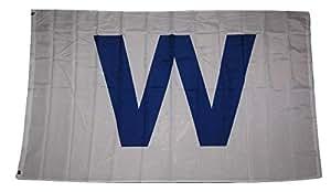 "Chicago Cubs Win ""W"" bandera azul 2x 3'Banner"