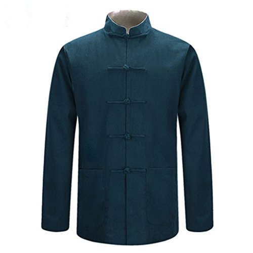 Tang Suit National Costume Individuality Retro Jackets Coats Men's dress Full dress Gentleman by BAOLUO-Tang Suit (Image #5)