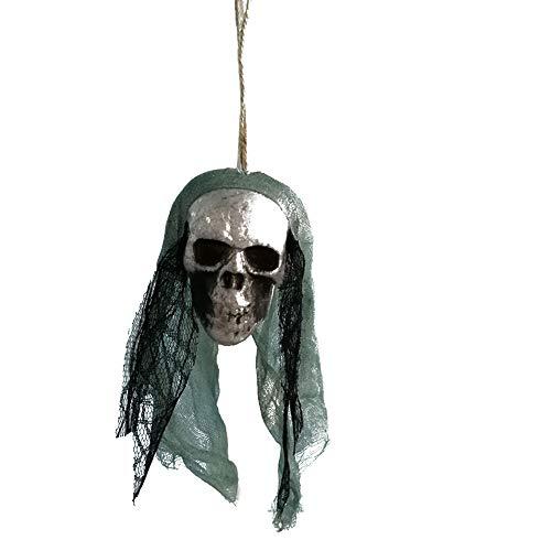 Fan-Ling 2019 New Halloween Hanging Decor,Pirates Corpse Skull Haunted House Bar Home Garden Decor,Foam Wacky Funny Novelty Skull Toys,Halloween Props,Halloween Fake Skull (B) (Aquarium Decor Zombie)