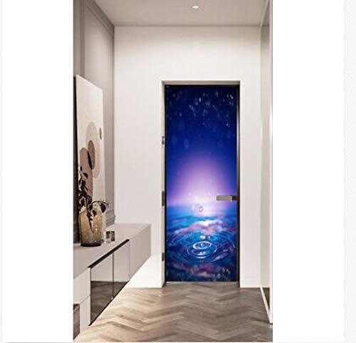 Etiqueta De La Puerta Gotas De Agua 3D Dormitorio Autoadhesivo Salón Cocina Decoración De La Habitación De Los Niños Recauchutado Mural Decal 77X200Cm: Amazon.es: Hogar