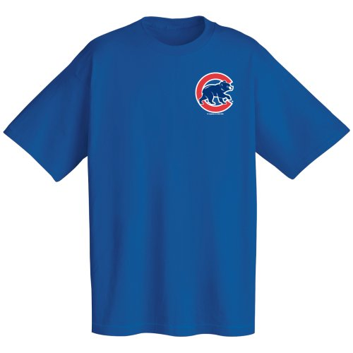 MLB Chicago Cubs Wordmark T-Shirt, Deep Royal, X-Large