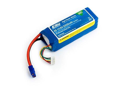 E-flite 2200mAh 4S 14.8V 30C LiPo 13AWG EC3 Battery