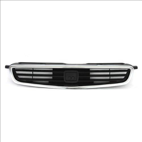 CarPartsDepot, Front Black Grille Body Chrome Outer Molding For US-Built 4dr Sedan, 400-201614 HO1200124 71121S04000 ()