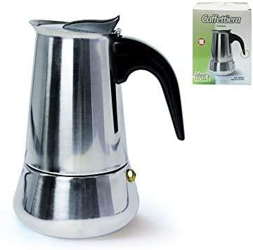 girm® - hx801579 Cafetera de acero inoxidable - 6 tazas - Moka ...