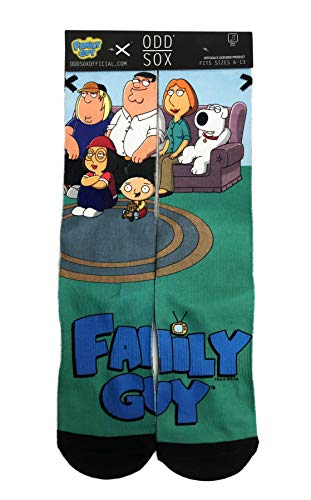 Animated Cartoon Show Family Guy Couch Peter Lois Brian Meg Chris & Stewie Griffin Men's Novelty Crew Socks]()