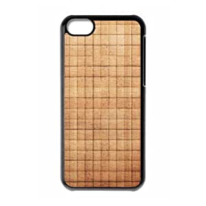 XiFu*Meiiphone 5/5s Case,Beige Squares Texture Pattern Hard Shell Back Case for Black iphone 5/5s Okaycosama378118XiFu*Mei