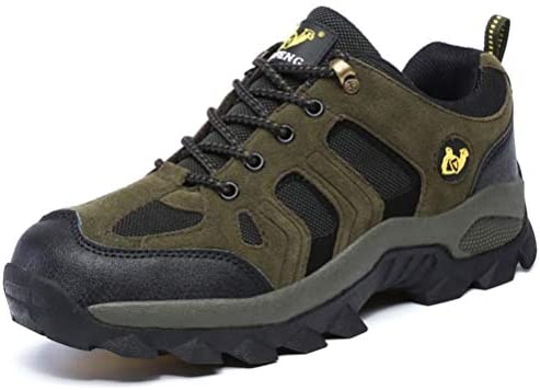 トレッキングシューズ メンズ ハイキングシューズ 登山靴 アウトドアシューズ 透湿性 軽量 防滑 厚い底 ローシューズ ダークグリーン 23.0cm-29.0cm ハイキング メンズ レディース 登山 アウトドア 27.0cm 耐摩耗性 通気性