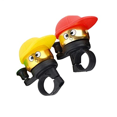 Christmas Hot Sale!!!Kacowpper Bicycle Handlebar Bell Ring 2 Pack Cycling Cute Horn Sound Emergency Alarm Alert Warning Loud Lightweight for Safety