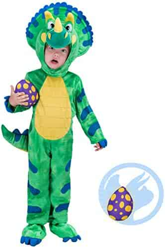 56490effc Spooktacular Creations Triceratops Deluxe Kids Dinosaur Costume for  Halloween Dinosaur Dress Up Party, Role Play