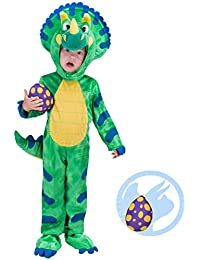 Triceratops Deluxe Kids Dinosaur Costume for Halloween Dinosaur Dress Up Party
