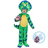 Spooktacular Creations Triceratops Deluxe Kids Dinosaur Costume for Halloween Dinosaur Dress Up Party - Role Play and Cosplay