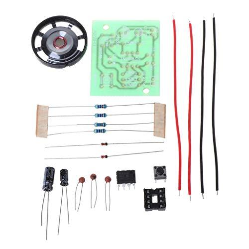 - Autone NE555 Oscillator Buzzer Electronic DIY Tone Generator LED Kit 8R 0.25W Speaker