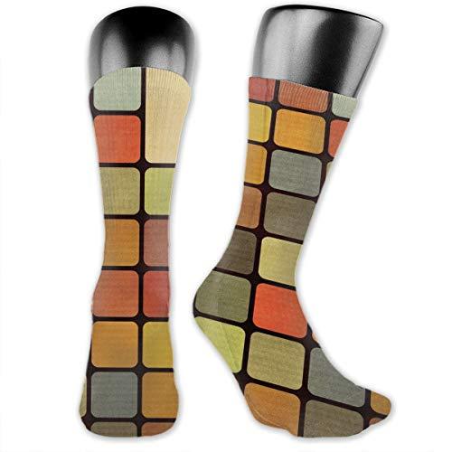 TLDRZD Unisex 3D Socks Rubiks Cube Adult One Size Crazy Tube Funny Novelty Polyester Fibre Socks -