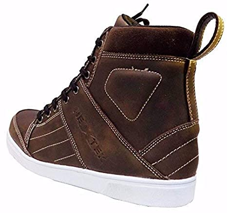 PROFIRST BT-107 Pure Leather Waterproof Mens Boys Boots Shoes Sneaker Casual Racing Sports Touring Cruise Dark Brown UK 13 EU 47