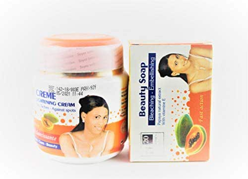 H20 JOURS PAPAYA LIGHTENING BODY CREAM300g AND SOAP250g FAST ACTION