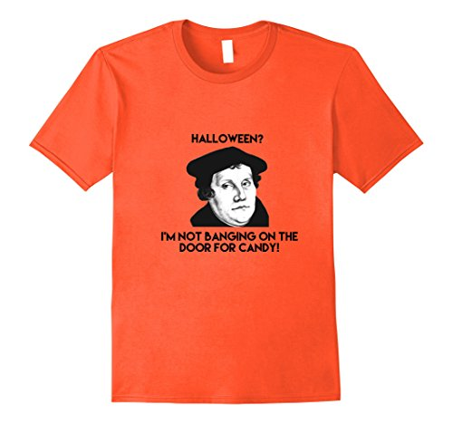 Mens Martin Luther Halloween Reformation Day T-shirt Large (Halloween Reformation Day)