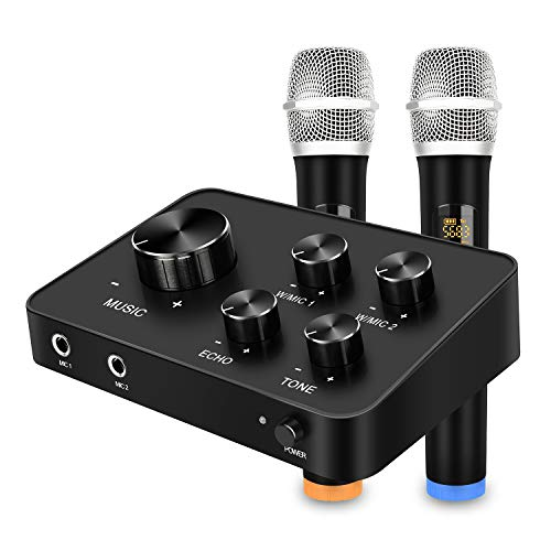 Portable Karaoke Microphone Mixer