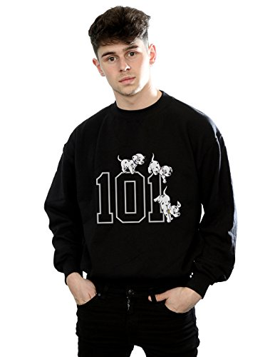 Disney Men's 101 Dalmatians 101 Doggies Sweatshirt Large Black