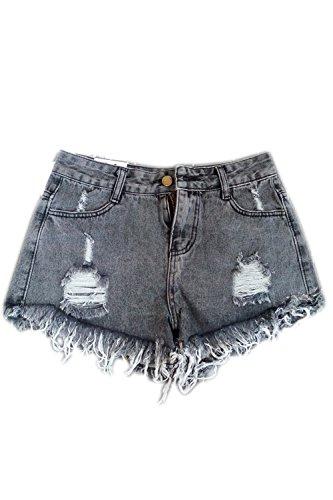 Nappe Pantaloncini Le Taglia Di Donne Estate Grey Dailywear Jeans Fasumava Occasionale P1q6aZnw41