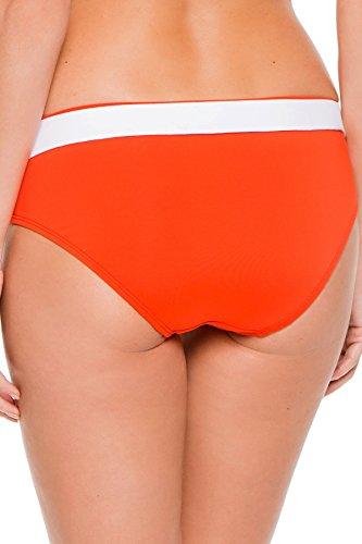 Michael Michael Kors Women's Belted Hipster Bikini Bottom Dark Clementine M