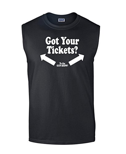 Guacamole GOT Tickets - Gun Show Lift Weights bro - Mens Sleeveless Tee, L, Black (Welcome To The Gun Show T Shirt)