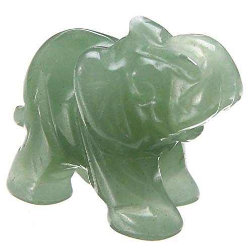Jungles Natural Jade Elephant Green Animal Pocket Stone Carved Elephant Elephant Statue Figurine Jade Stone Elephant Carving Gifts Home Decoration Ornament
