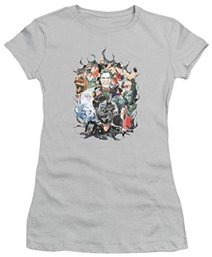 Juniors: Batman - Cape of Villians Juniors (Slim) T-Shirt Size XL -