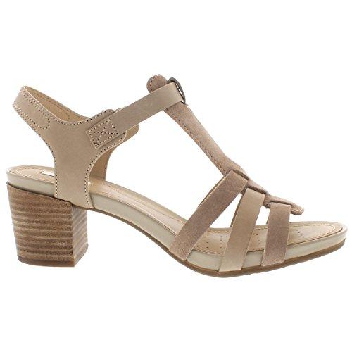Sandalias y chanclas para mujer, color Hueso , marca GEOX, modelo Sandalias Y Chanclas Para Mujer GEOX D SYMI A Hueso Taupe