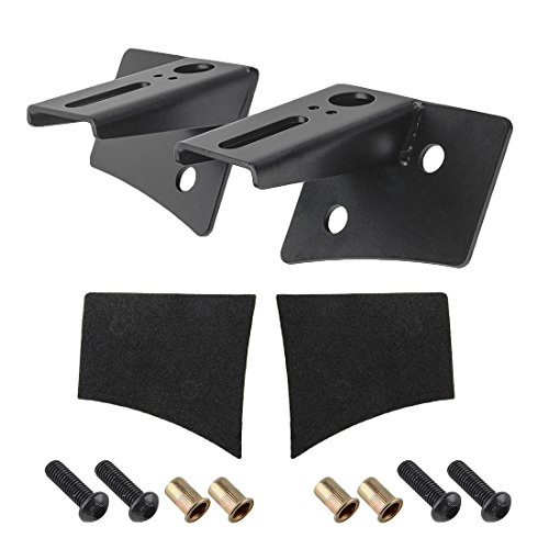 Windshield Hinge Mount Lower Corner A-pillar Mounting Brackets for Dual LED Spot Flood Lights Fit for 2007-2018 Jeep Wrangler JK-2pc A-Pillar Hood Mount Bracket ()