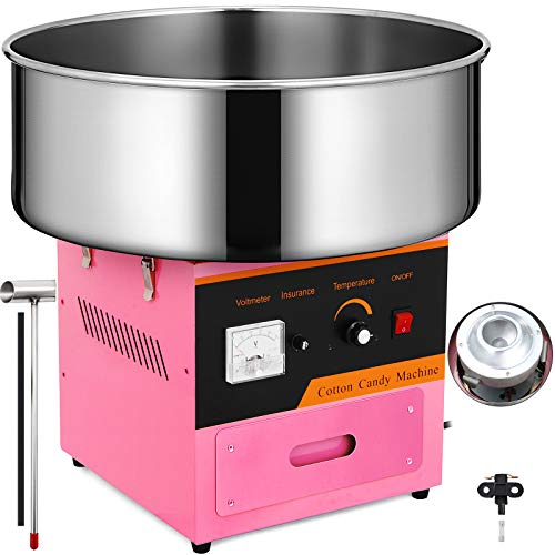 Happybuy Candy Floss Maker 20.5 Inch Commercial Cotton Candy Machine Stainless Steel for Various Parties (Maquina De Algodon De Azucar)