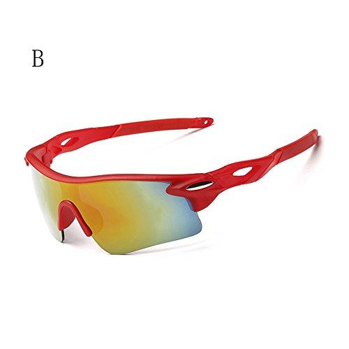 KXN Fashion Polarized Cycling Outdoor Sports UV400 Protection Sunglasses Goggles for men women Baseball Running Cycling Fishing Golf (Rainbow&Red - Baseball Sunglasses Cheap