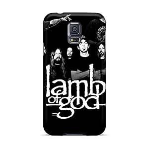 Shock-Absorbing Hard Phone Cover For Samsung Galaxy S5 With Custom Vivid Lamb Of God Series WayneSnook