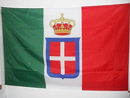 AZ FLAG Bandera del Reino DE Italia Corona 150x90cm para Palo - Bandera Italiana Real 90 x 150 cm: Amazon.es: Jardín