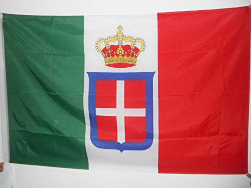 AZ FLAG Kingdom of Italy Crown Flag 2' x 3' for a Pole - Italian Royal Flags 60 x 90 cm - Banner 2x3 ft with Hole