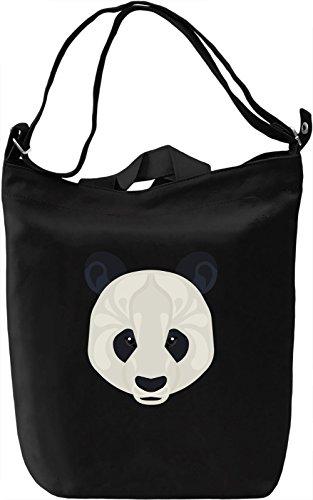Panda Borsa Giornaliera Canvas Canvas Day Bag| 100% Premium Cotton Canvas| DTG Printing|