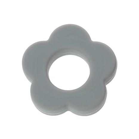 Lyguy - Perlas de Silicona, Agujeros de Flores, 4,5 cm ...