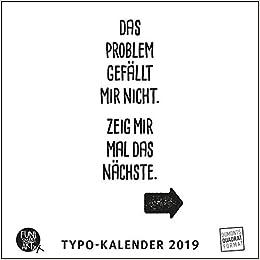 Spruche Im Quadrat 2019 Typo Kalender Von Funi Smart Art