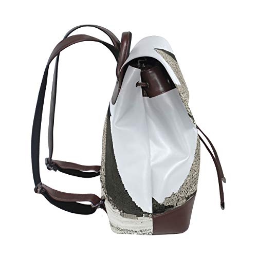 e4b88038434e Amazon.com: FAJRO Egyptian Pyramid Travel Backpack Leather Handbag ...