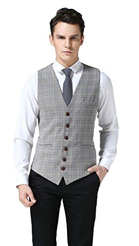 Buy mens plaid dress vests - 6