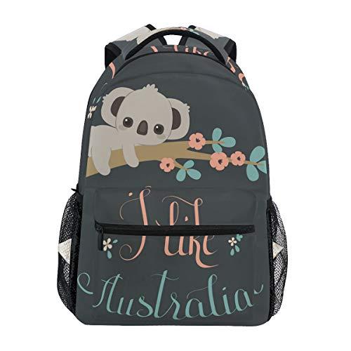 School Backpack Cute Koala Bookbag for Boys Girls Teens Casual Travel Bag Computer Laptop Daypack