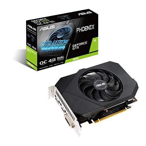 ASUS Phoenix Nvidia GeForce GTX 1650 4GB Power OC Edition Gaming grafische kaart (GDDR6 geheugen, PCIe 3.0, 1x HDMI 2.0b…