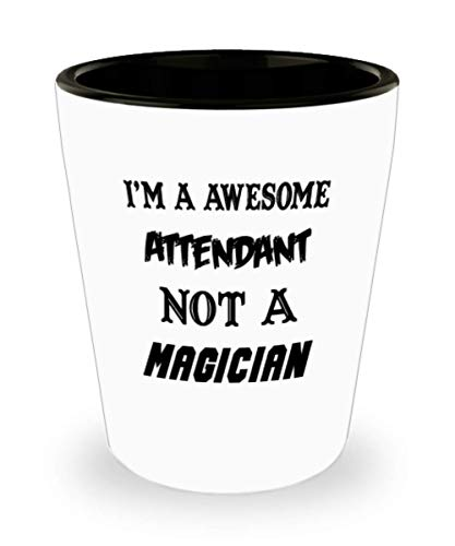 I'm An Awesome Attendant Gifts White Ceramic Shot