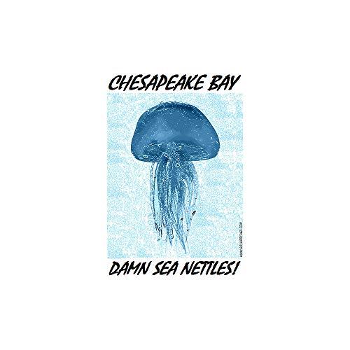 www.baybranded.com Damn Sea Nettles Sticker