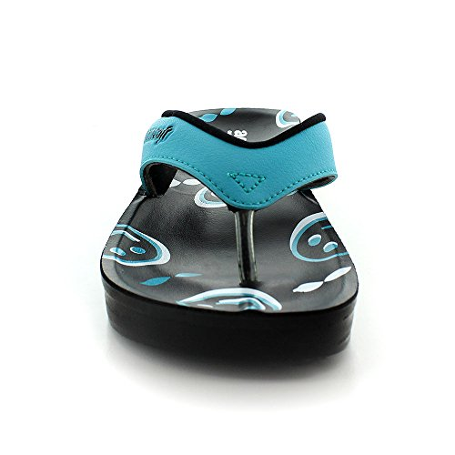 Aerosoft Sonrisa Womens Emoji Face Sandals Orthotic Flip Flops Blue SbmgixExx