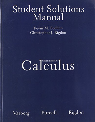 Student Solutions Manual for Calculus