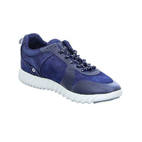 Replay Willern Herren Sneaker Halbschuh Schnürer Jeans Denim Blau (Navy)