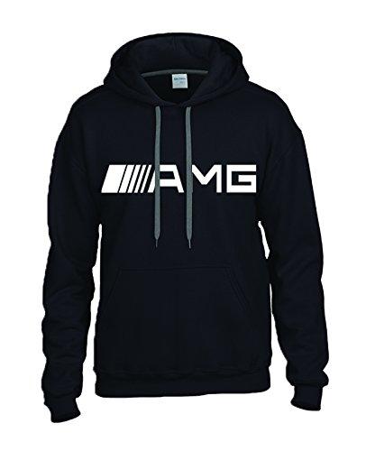 mercedes-benz-amg-white-logo-on-black-hooded-sweater-sweatshirt-hoodie-size-large