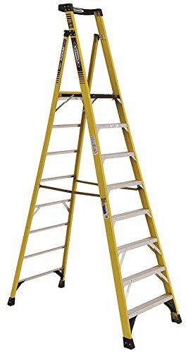 Werner CO PD7308 Type IAA Aluminum Podium Ladder - 8'