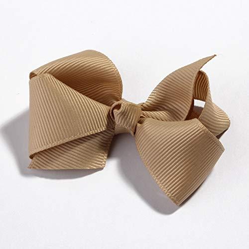 Sinchi Kuzo Flower Hair Clip Hair Clip 120pcs//lot 7.6cm 30 Colors Cute Grosgrain Ribbon Flower Hair Bows with Clips s Boutique Threaded Ribbon for Hair Accessories