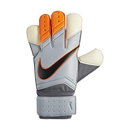 Nike GK Vapor Grip 3 Soccer Goalkeeper Gloves (Grey, Total Orange) Sz. 9